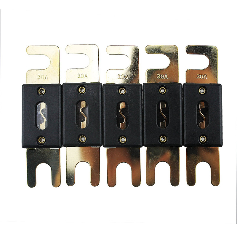5Pcs//lot 250A ANL Fuse 250 Amp Gold Plated