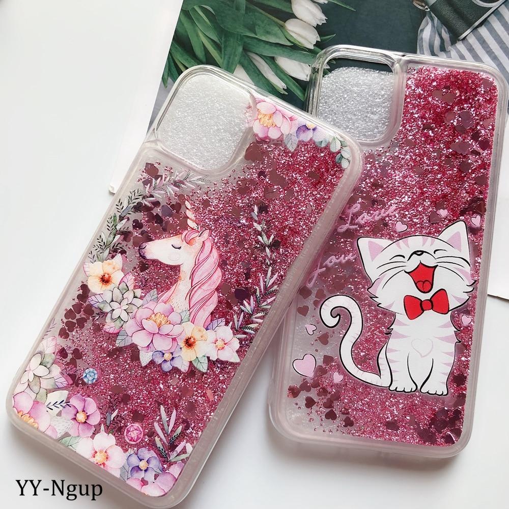 Case Glitter Unicorn Cat Dynamic Liquid