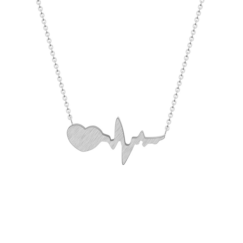 Stainless-Steel-Chain-Heartbeat-Pendant-Necklace-Women-Jewelry-Gold-Silver-Boho-Heart-Wave-Statement-Necklace-Best_