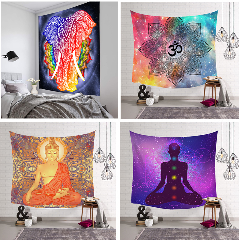 NEW Tapestry Wall Hanging Polyester Indian Mandala Pattern Blanket Home Decoration Yoga Multifunction