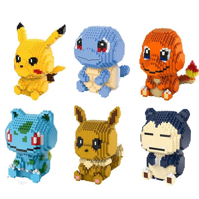 Pokemon Pikachu Squirtle Pidgey Charmander Bulbasaur Evee Lego Compat Minifigure