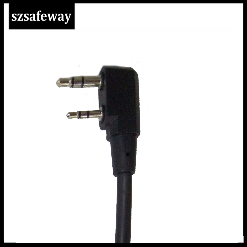 Waterproof Big PTT Cable For Z Tactical Headset ComtacII H50 SORDIN H60 HD03 Earpiece For Kenwood Baofeng UV-5R TK3160, TK-3170