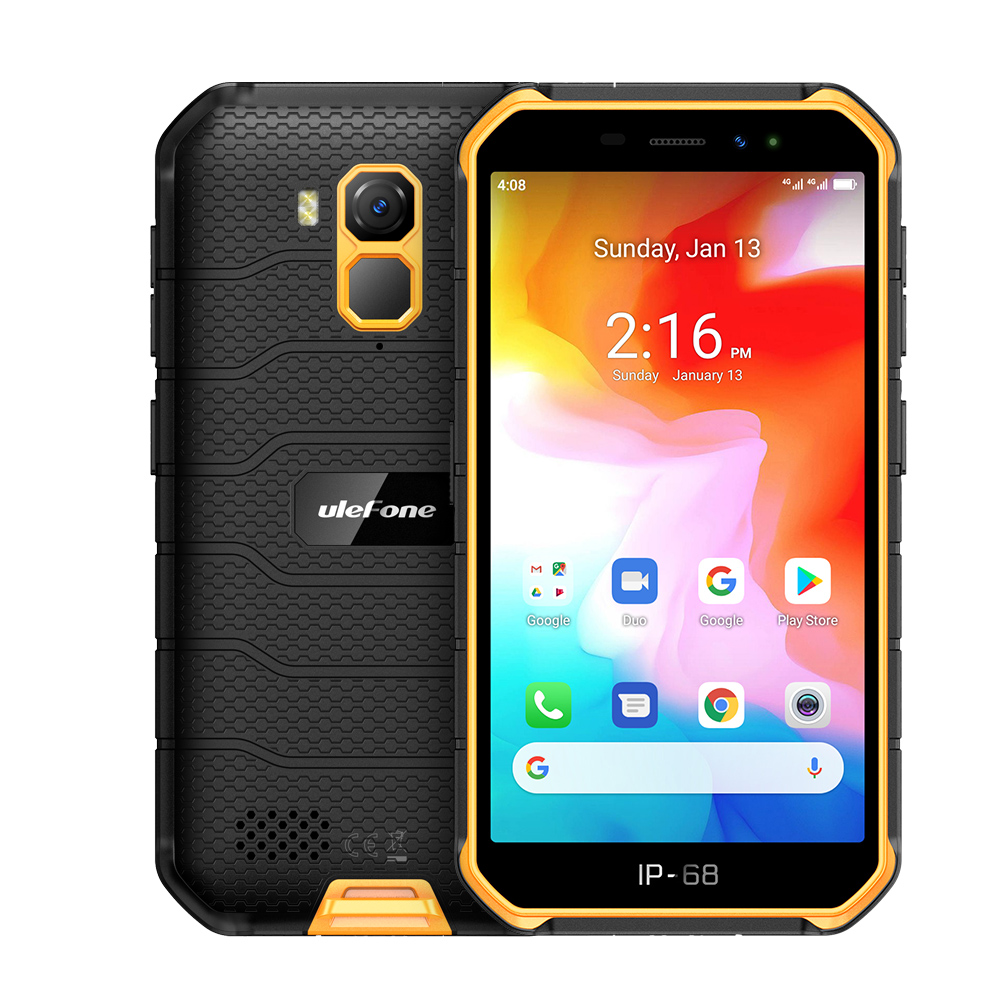Ulefone Armor X7 Android 10 Rugged Waterproof Smartphone 5.0-inch 2GB 16GB IP68/IP69K Quad-core 4000mAh NFC 4G LTE Mobile Phone
