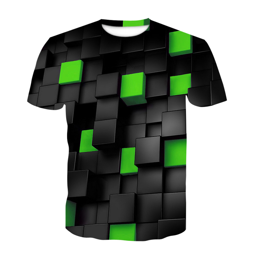 Explosive geometric graphic T-shirt summer men's T-shirt men's casual top 3DT-Shirts fashion O-neck shirt plus size streetwear