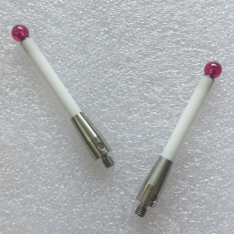 A-5000-3709 CMM Touch Probe Stylus 6mm Dia Ruby Ball Ceramic Stem M4 CMM Styli