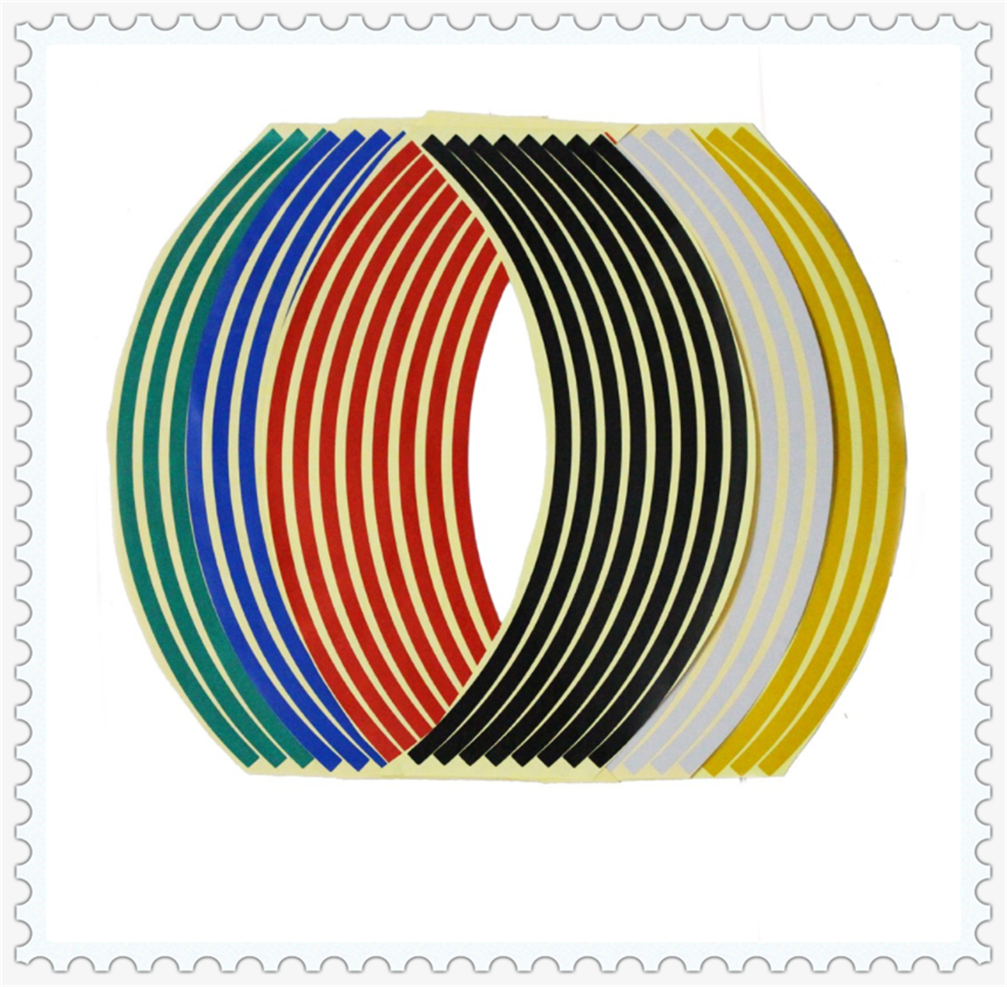 "17"" / 18"" rim strip wheel motorcycle accessories sticker Universal for Kawasaki Z750R ZX10R ZX6R 636 H2 H2R ZZR ZX1400 S ZX10R"