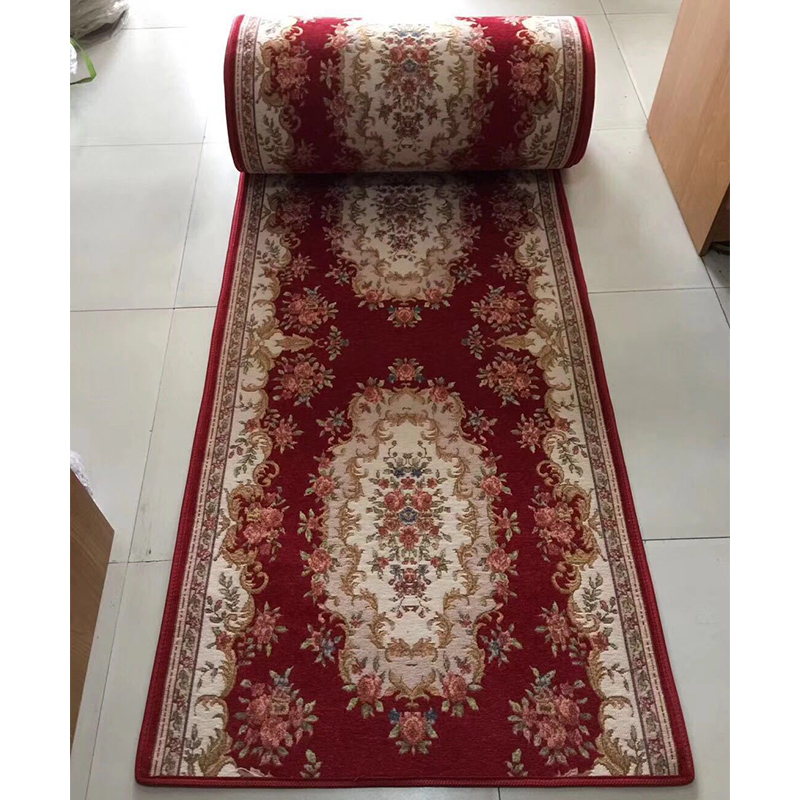 Festival Red Plain Hallway Carpet Runner Rug Mat Long Hall Anti Non Slip Back