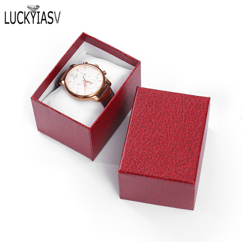 Wholesale 5 Color Cardboard Watch Box Bracelet Jewelry Box Man Watch Gift Boxes Showed Case 10.5*7.5*7cm
