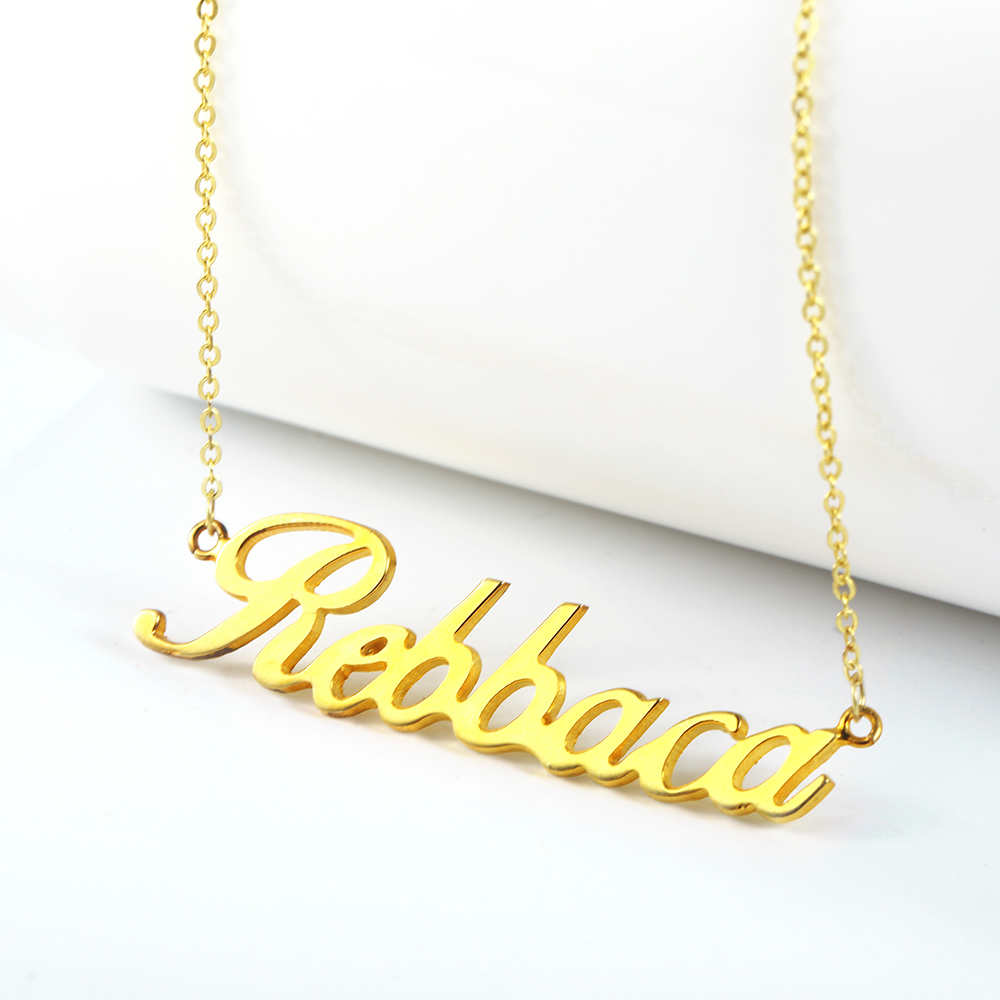 Custom Personalized Name Necklace Choker Women Necklace 925 Silver Necklace & Pendant Jewelry Mom Gift Wholesale (1)
