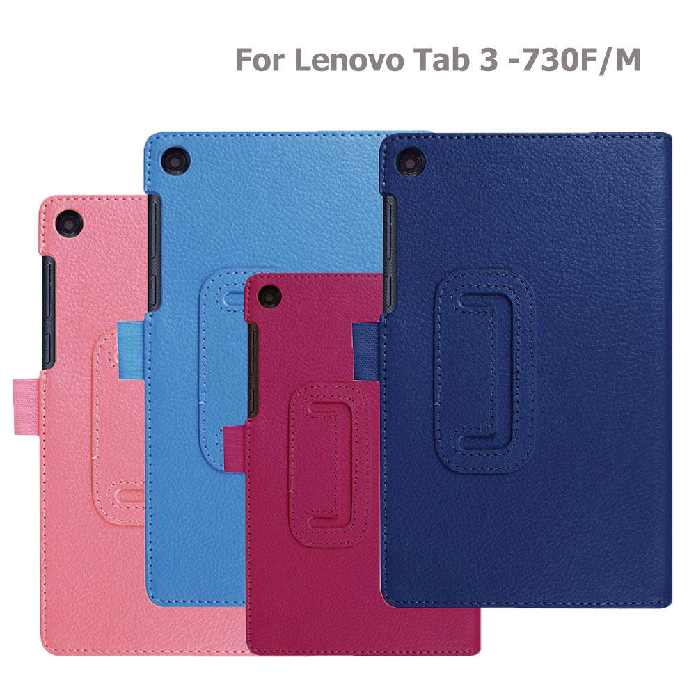 Tablet Smart Case For Lenovo Tab3 730 730f 730m 730x TB3-730F TB3-730M 7.0 Inch PU Leather Holder Shell Cover For Lenovo Tab 3