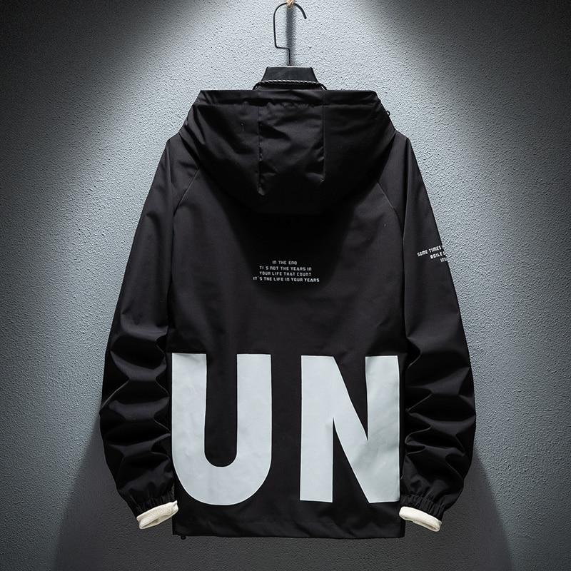 2020 LES KOMAN New Hooded Jackets Men Letter New Color Windbreaker Jacket Fashion Coat Men Hip Hop Streetwear Jacket Men