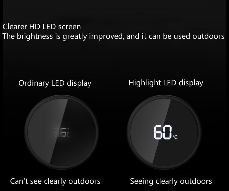 smart Thermos intelligent avec température écran haut définition  | OkO-OkO