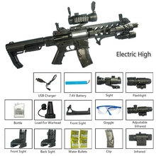 Water-Gun Rifle AR-15 Electric Hobbies Outdoor-Sports Children PUBG Live CS Present Unisex