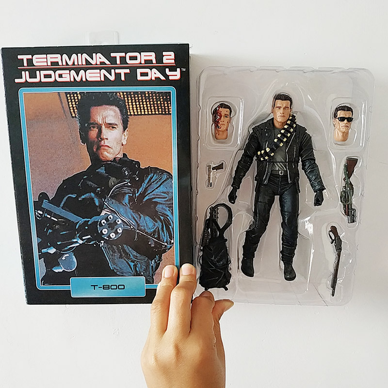 The Terminator 2 T-800 Action Figure Judgment Day Model Toy Collector Figurine
