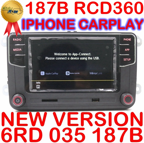Carplay RCD360 RCD 360 MIB Auto Radio Mirrorlink 6RD 035 187B For VW Golf 5 6 Jetta MK5 MK6 Polo Passat B6 B7 CC Tiguan Touran