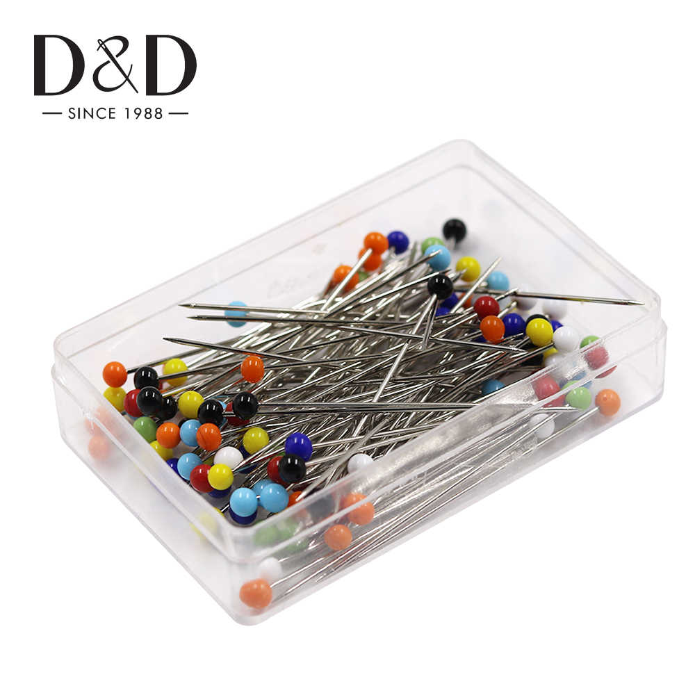 SUPVOX 100pcs Ball Glass Head Pins Colorful Sewing Pins Straight Quilting Pins f