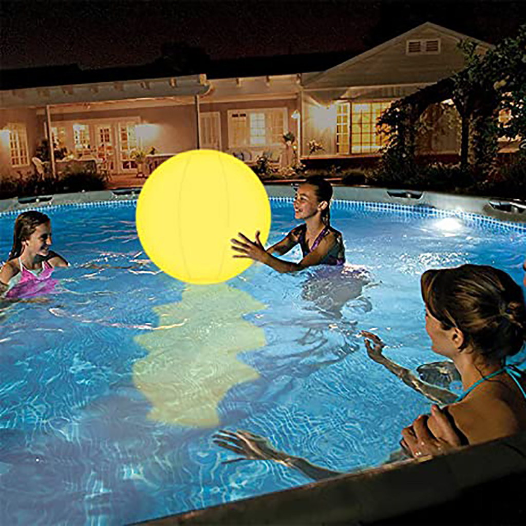Water - Rechargeable LED Swimming Pool Floating Ball Lamp Waterproof Outdoor Home Wedding Garden KTV Bar Holiday Party Decoration