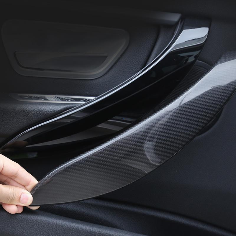 SHES 4Pcs//Set Carbon Fiber ABS Interior Door Handle Cover Trim for 3 Series F30 F31 2013-2018 GT F34 14-17 /& 4 Series 4 dr F36 15-17