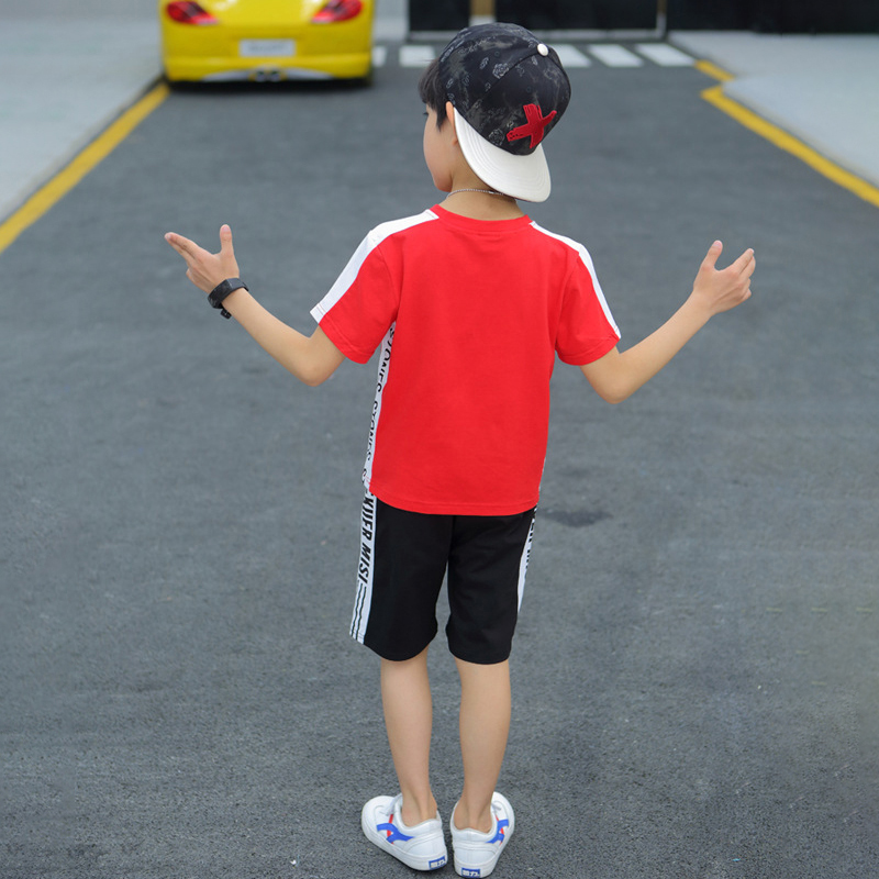 2020 Summer Letters Kids Boy Clothes Set 2 PCS T Shirt Shorts Toddler Boys Clothing Sets Casual Teenage Children Outfits
