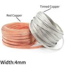 Wire-Wrap Braided-Sleeve Shielding Anti-Interference Signal-Cable Sheath Plating Copper