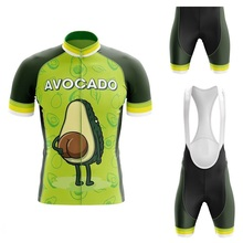 Suit Jersey-Set Cycling-Clothing Bike Avocado Cartoons Shorts Bicycle-Bib MTB Road-Race