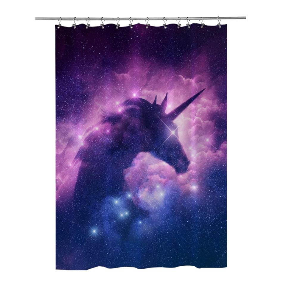 Universe Nebula Skull Shower Curtain Bathroom Decor Fabric /& 12hooks 71*71inches