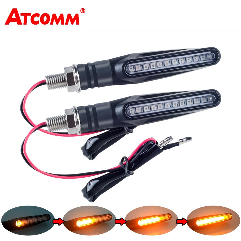 Brake-Lamp Flasher Amber-Light Bendable-Tail-Indicator Motorcycle Flowing LED Flicker title=