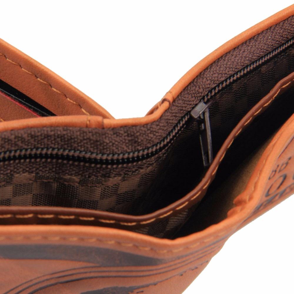 Top 2019 Vintage Men Leather Luxury Wallet Short Receipt Holder Organizer Male Purses Money Clip Credit Card Portomonee 814