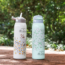 Flasks Tumbler Insulated-Bottle Straw-Vacuum Stainless-Steel Travel with Infant