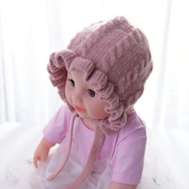 Księżniczka dziewczynek dzianina zimowa ciepła czapka noworodka czapka Enfant czapki czapka dziecięca czapka dziecięca -