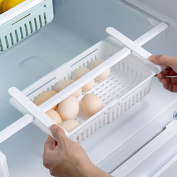 Кухонный Органайзер, регулируемая полка для хранения кухонного холодильника, полка для холодильника, держатель выдвижного ящика, органайз...