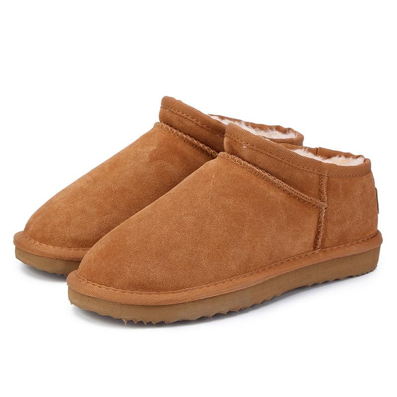 MBR FORCE женские зимние ботинки в классическом австралийском стиле, теплые кожаные ботинки на плоской подошве, водонепроницаемые ботильоны высокого качества, большие размеры