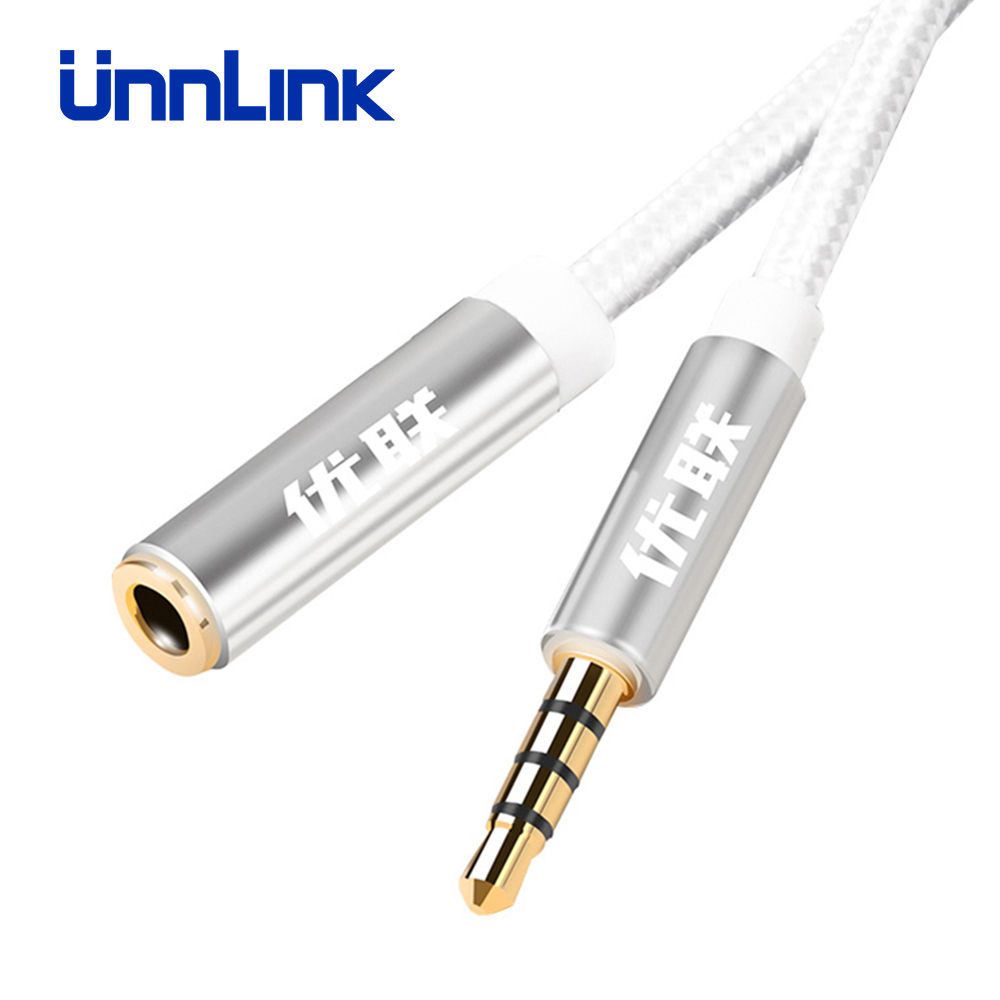3.5mm AUX Stereo Audio Extension Cable For iphone Xiaomi Smart Phone Earphone