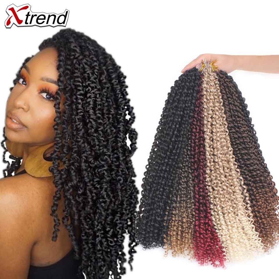 Xtrend Passion Twist Hair Crochet Braid Extensions Synthetic Crotchet Braids Spring Braiding Hair For Fluffy title=