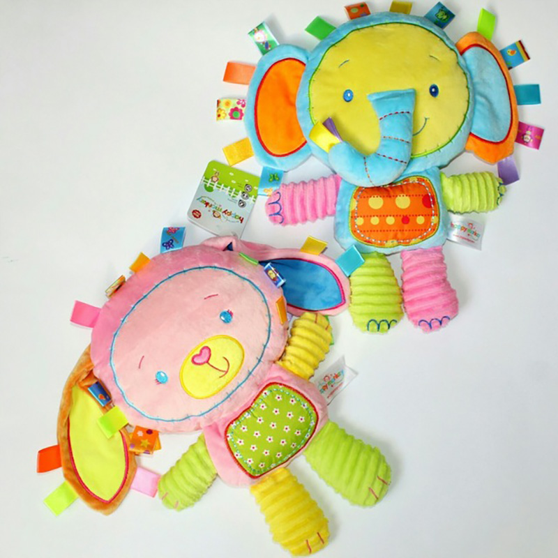 Lovely Baby Rattles Elephant Cattle Shape Cute Hand Bell Hanging Rattles Toy