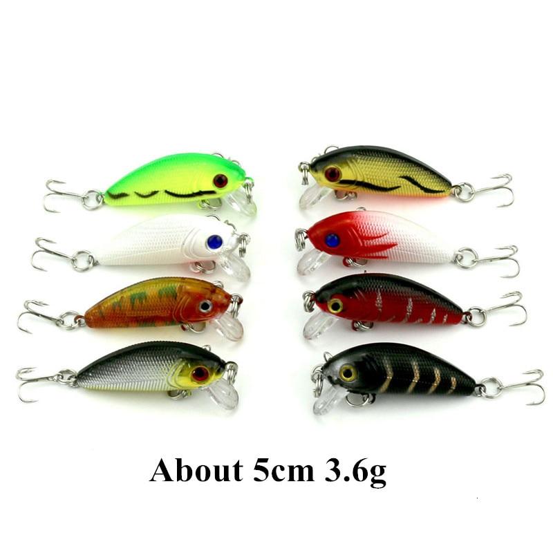 Super Deal 17 Colors Mini Crankbait Fishing Lure Hard Plastic Crank Bait with Treble Hook Fishing Accessories (1)