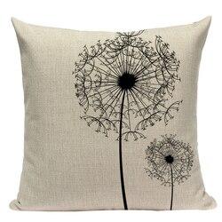 Наволочка для подушки в простом стиле, геометрические декоративные подушки для медитации, для дивана, автомобиля, дома, на заказ, черно-бела...