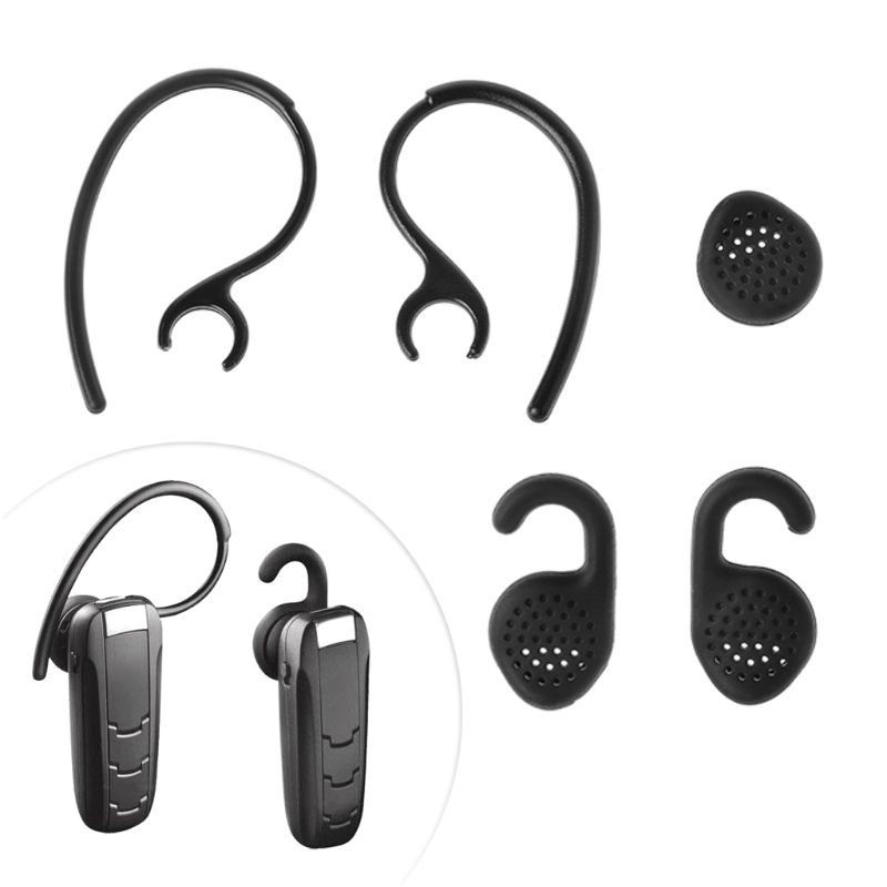 New 3pcs Gel Ear Bud Earbuds tip 2pcs Ear Hook Loop earhooks Replacement for Jabra EASYCALL EASYGO Clear USA Cell Phones Parts