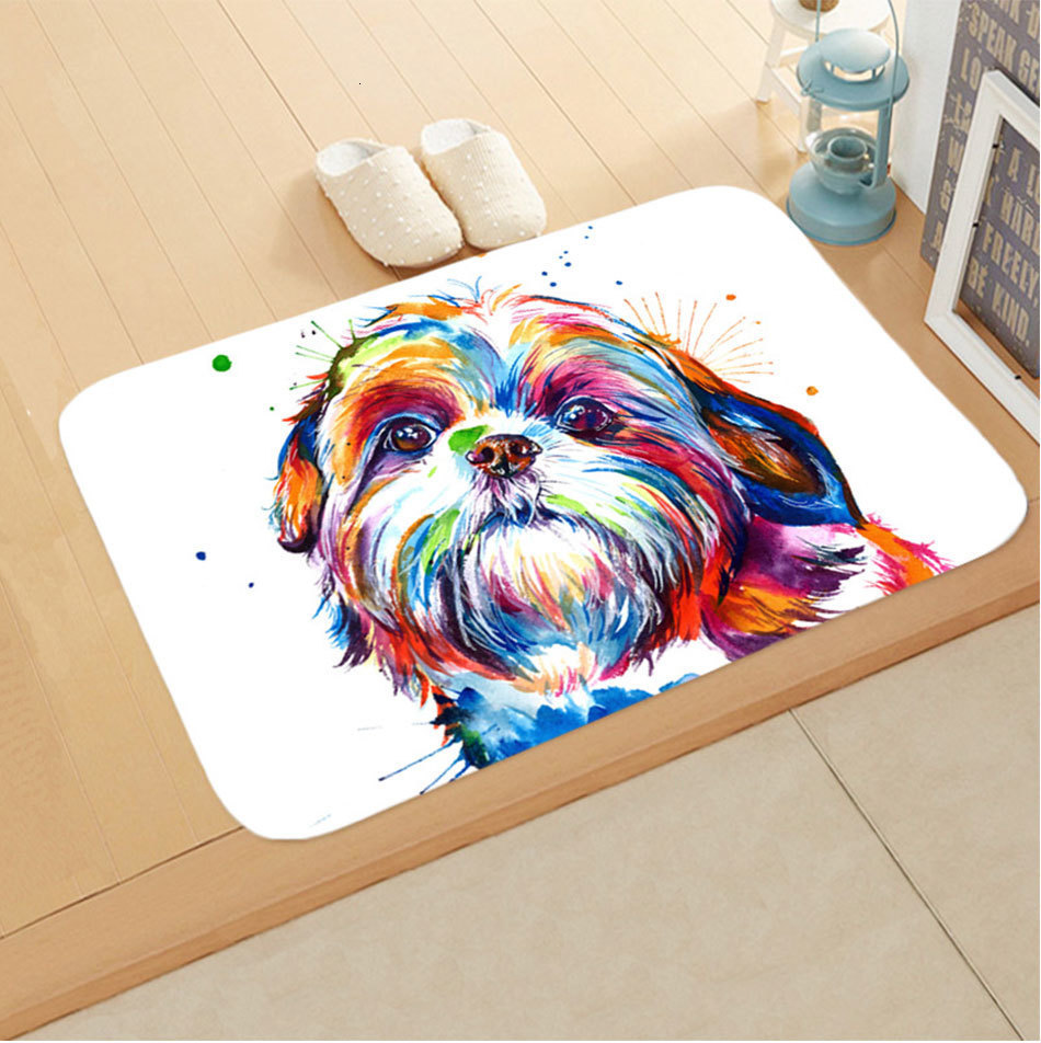 Funny Pug Dog Cosplay Rabbit Non Slip Shower Rug Bath Mat Kitchen Carpet Door