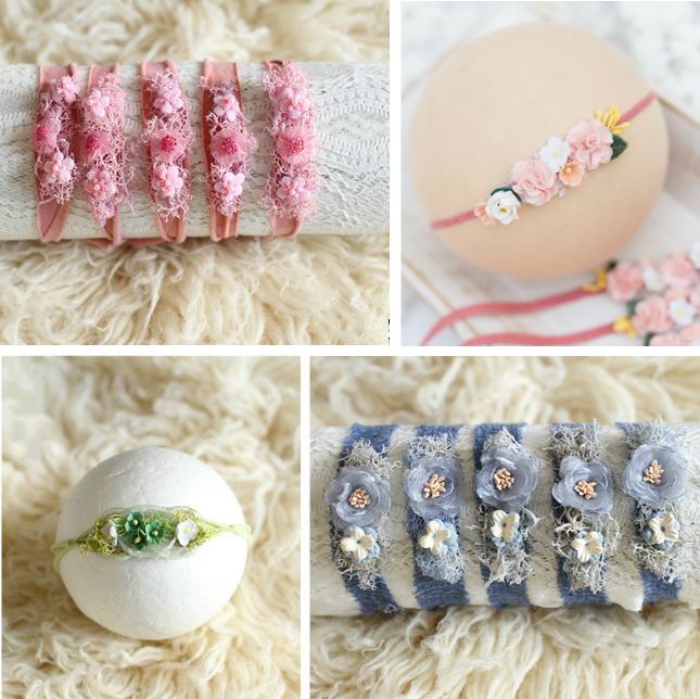 Newborn Baby Headband Flower Headwear Baby Girl Headdress Baby Photography Props Infant Shoot Accessories Studio New Props