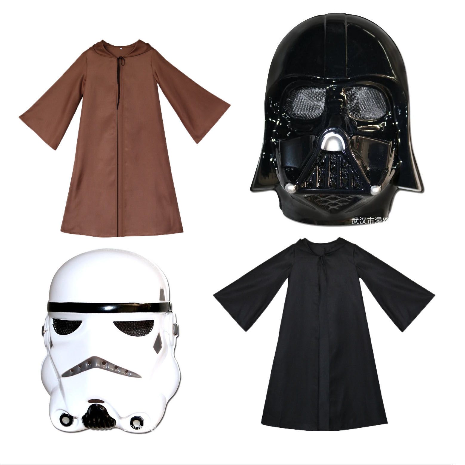S-XXL Knight Hooded Cloak Jedi Sith Robe Cape Party Costume Dress Prop Cosplay