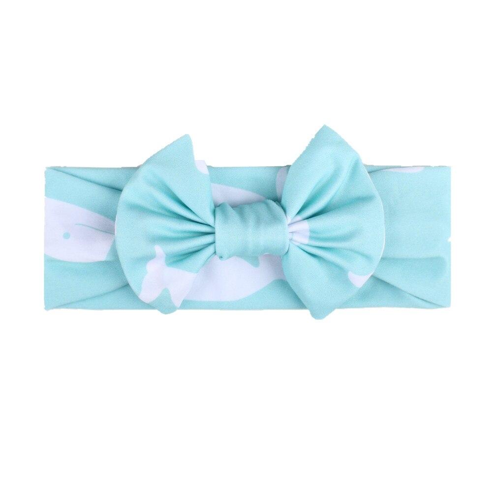 Baby Headband For Girls Bow print rabbit ear turban baby headband Baby Bows Turban Hair Accessories Newborn Infant Girl