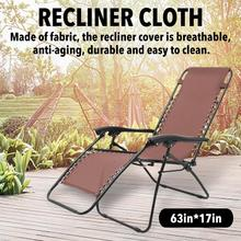 Raised-Bed Cushion Lounger Replacement Chair Garden Fabric Cloth for Beach Gray Brown