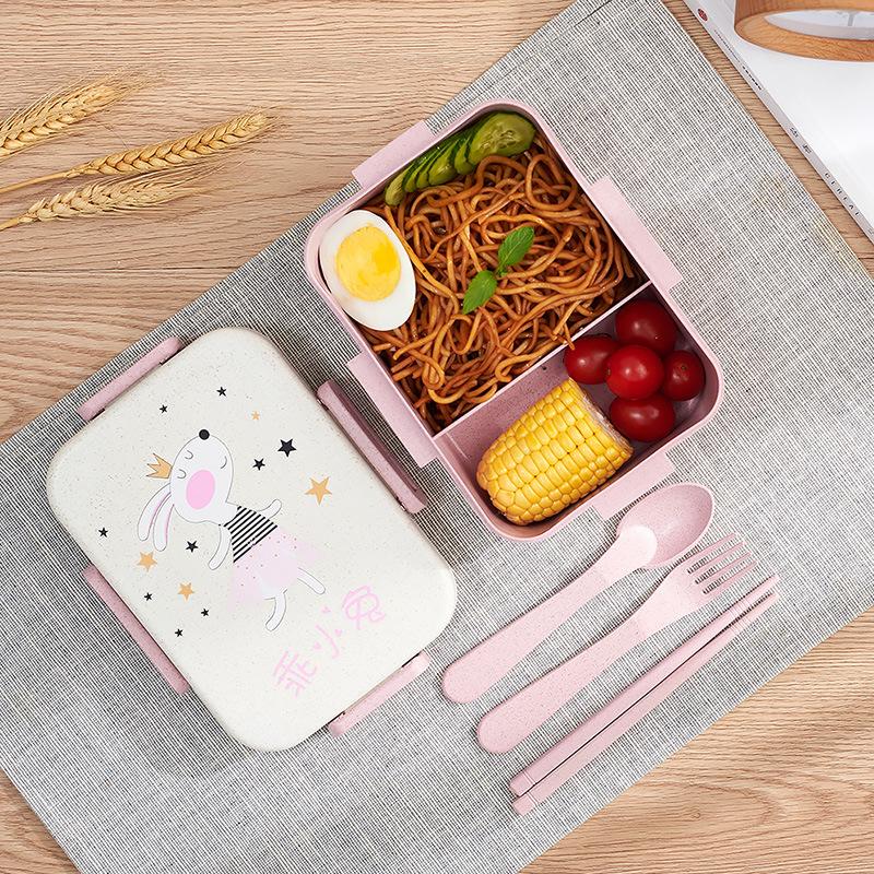 TUUTH Cute Cartoon Lunch Box Microwave Dinnerware Food Storage Container Children Kids School Office Portable Bento Box B8