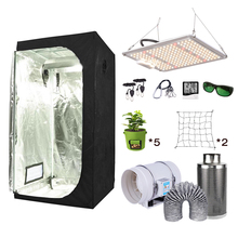 Complete-Kit Tech-Board Led-Grow-Light CARBON-FILTER Quantum Samsung Lm301b Ac with Setup