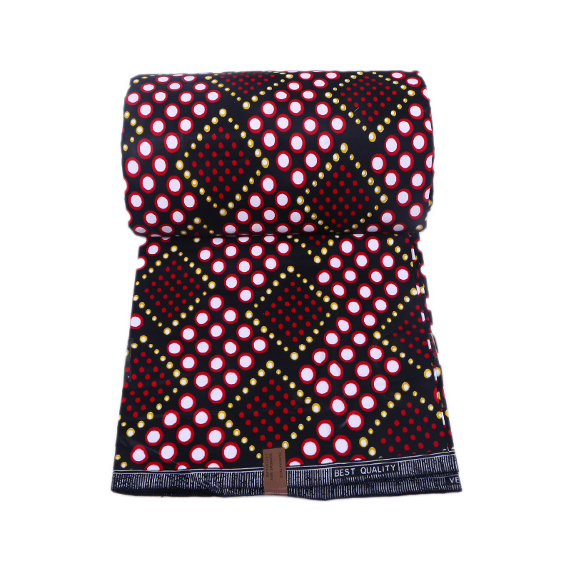 Wax-Fabric Dutch Print Ankara-Guarantee Real Veritable Square-Pattern Fashion 100%Cotton title=