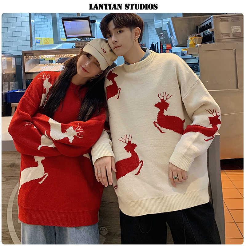 Suéter de Navidad para pareja de LT Studio 2019 Otoño
