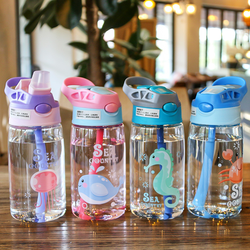 Kids Water Sippy Cup Creative Cartoon Baby Feeding Cups with Straws Leakproof Water Bottles Outdoor Portable Children's Cups
