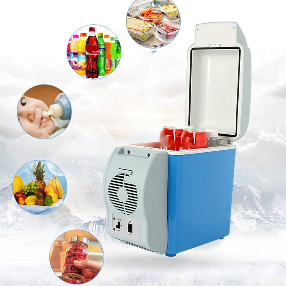 7.5L Car Refrigerator Car Portable Dual-Use Mini Refrigerator Heating And Cooling Box title=