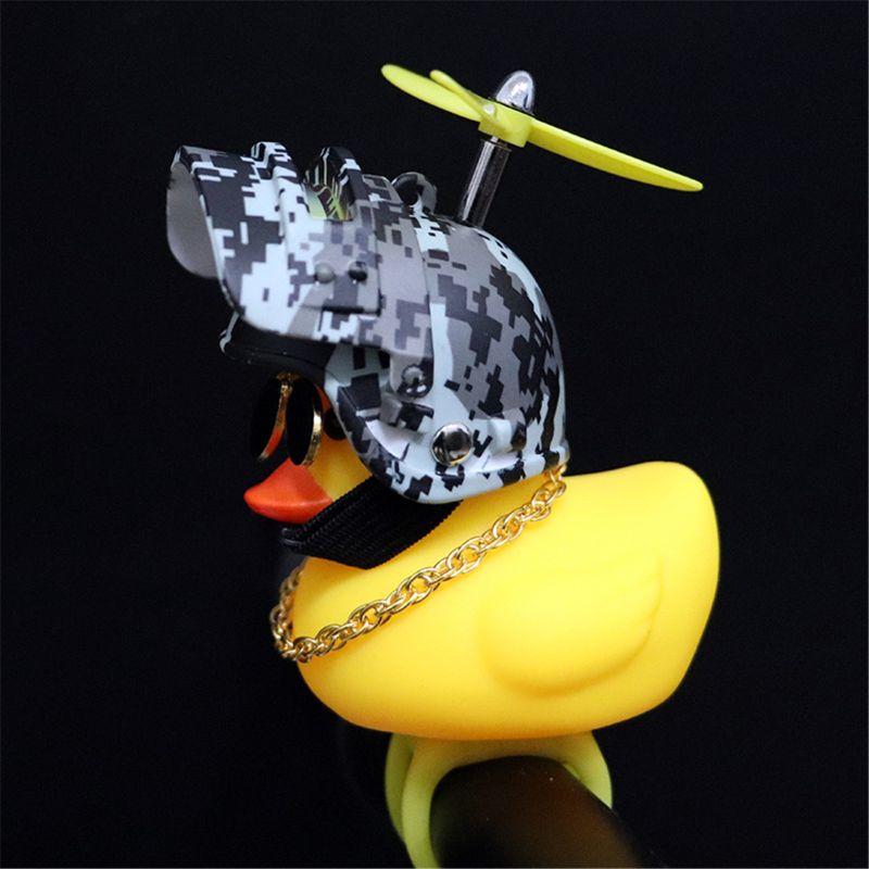 BSTEle Decoraci/ón de Coche de Pato Amarillo decoraci/ón de salpicadero de Coche de Juguete de Pato de Goma Amarillo con Casco de h/élice para Adultos y ni/ños